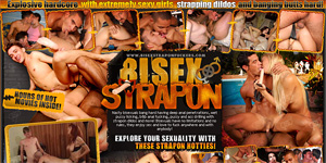 Bi-Sexual Strapon Fuckers. Bi sex girls and guys get anal ass fucking from strapon dildo women.